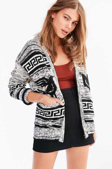 OBEY Eirine Zip-Up Cardigan Sweater