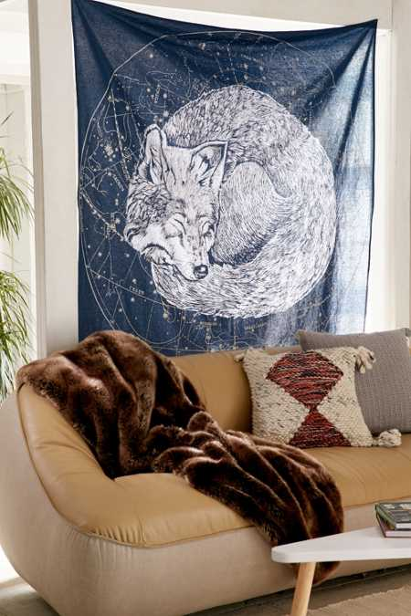 Sleeping Wolf Tapestry