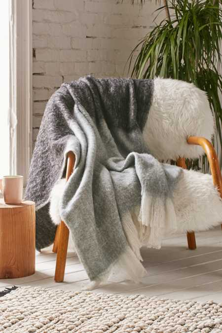 Wooly Fringe Throw Blanket