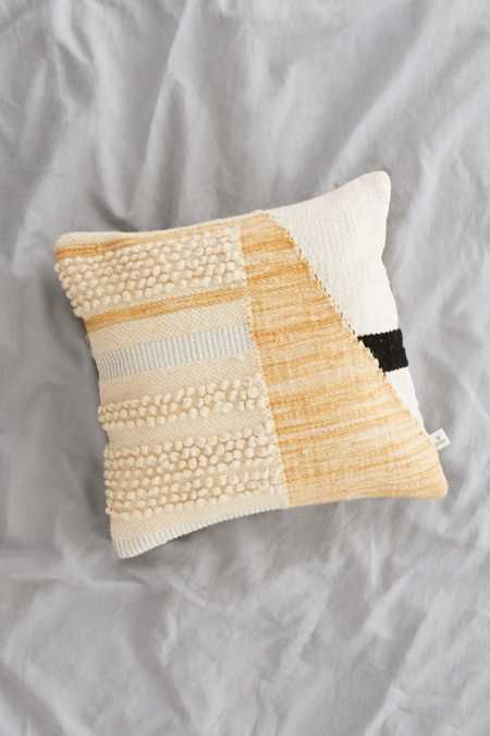 Colorblock Woven Loop Pillow