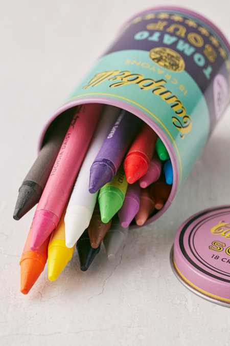 Soup Can Crayons Set