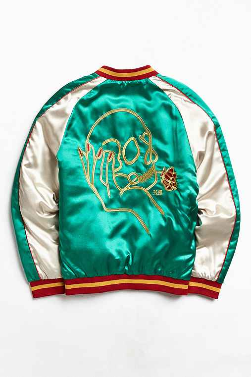 UO X Never Made Souvenir Jacket,GREEN,M