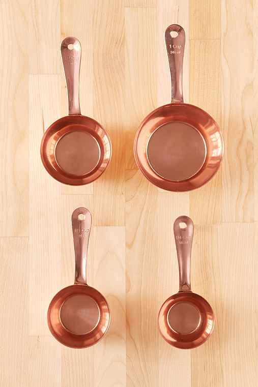 Copper Measuring Cups Set,COPPER,ONE SIZE