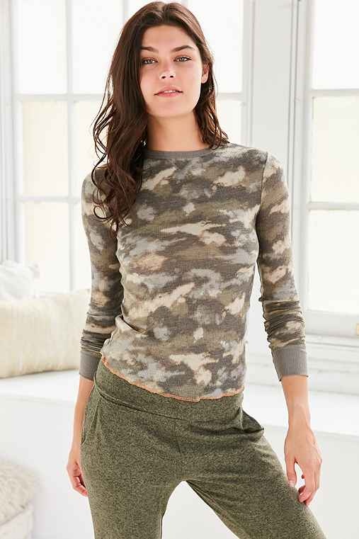 Out From Under Anna Thermal Long Sleeve Top,MULTI,XS