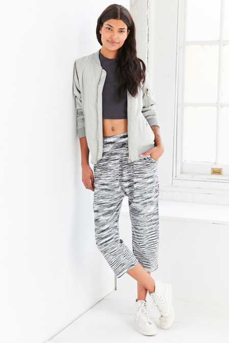 Ecote Space-Dye Crop Pull-On Pant