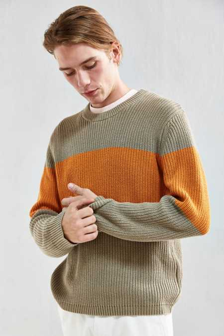 UO Chest Stripe Crew Neck Sweater