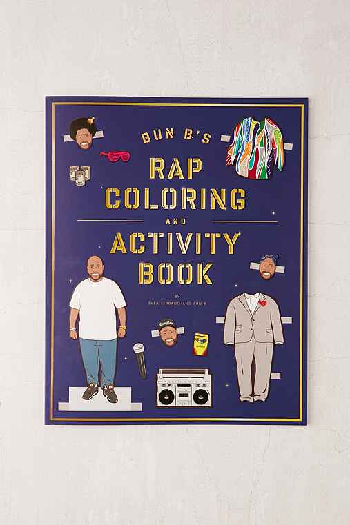 Bun B's Rap Coloring And Activity Book By Shea Serrano,ASSORTED,ONE SIZE