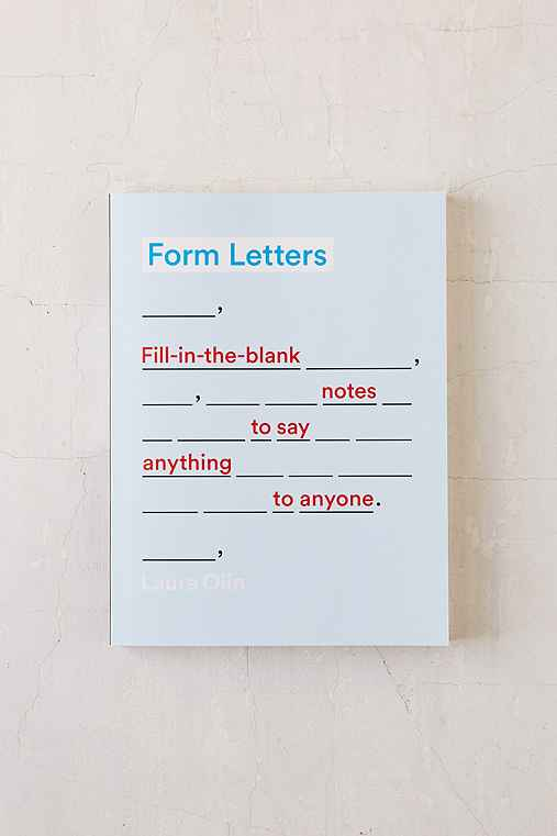 Form Letters By Laura Olin,ASSORTED,ONE SIZE