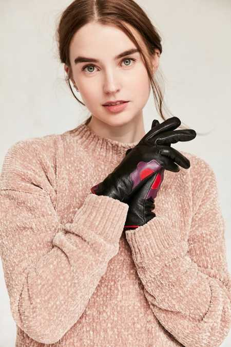 Leather Flower Power Glove