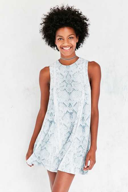 Silence + Noise Sleeveless Print Swing Dress