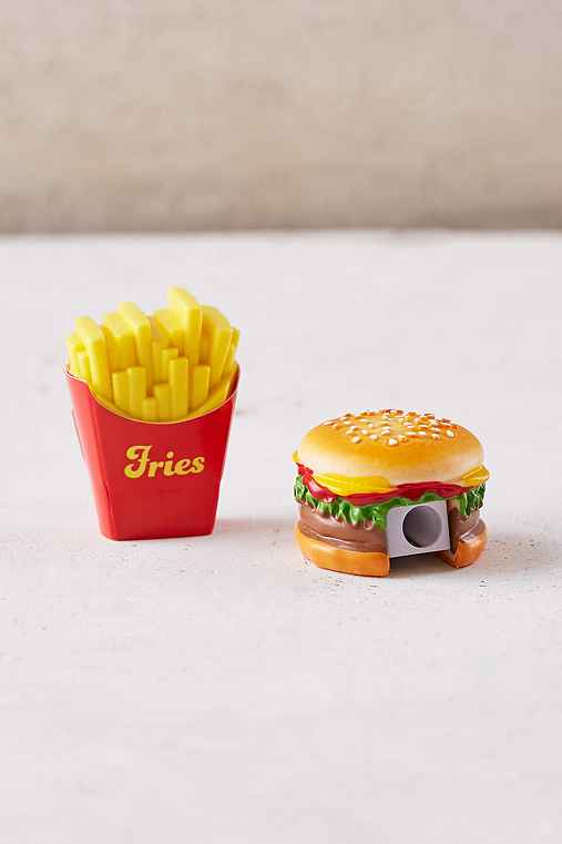 Fast Food Pencil Sharpener + Eraser Set,MULTI,ONE SIZE