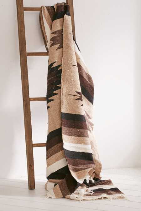 Nipomo Woven Geo Falsa Blanket + Leather Carrier