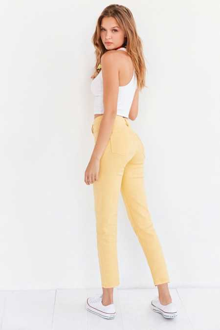 BDG Girlfriend Monochrome High-Rise Jean - Yellow