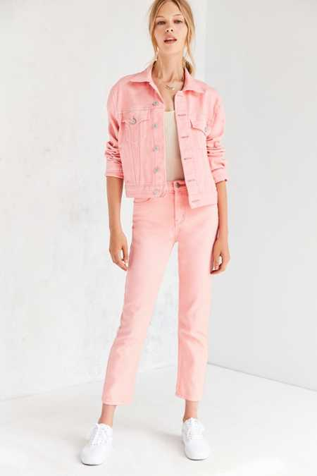 BDG Girlfriend Monochrome High-Rise Jean - Pink