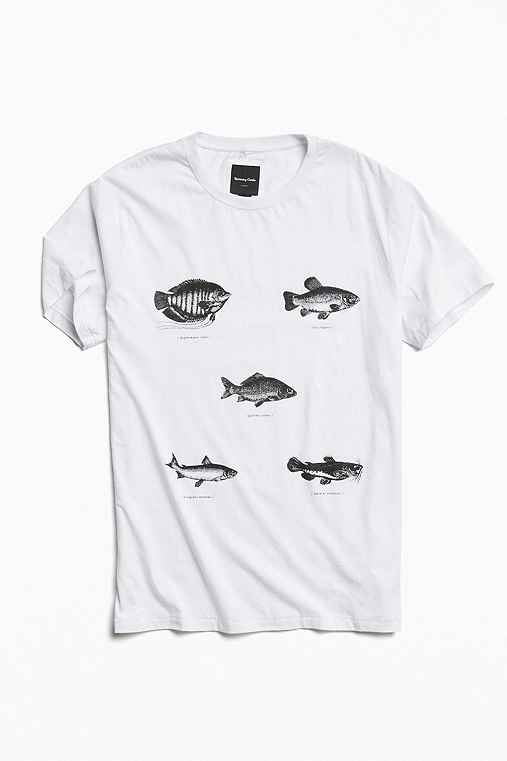 Barney Cools Fish Tee,WHITE,L