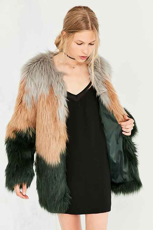 Kimchi Blue Kira Oversized Faux Fur Jacket,NOVELTY,XS/S