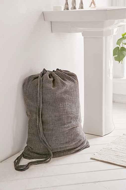 Crinkle Gauze Laundry Bag,NAVY,ONE SIZE