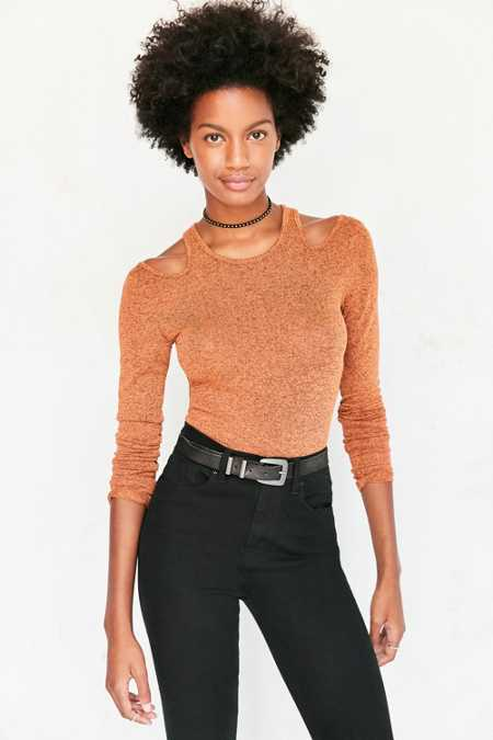 Silence + Noise Cold-Shoulder Sweater