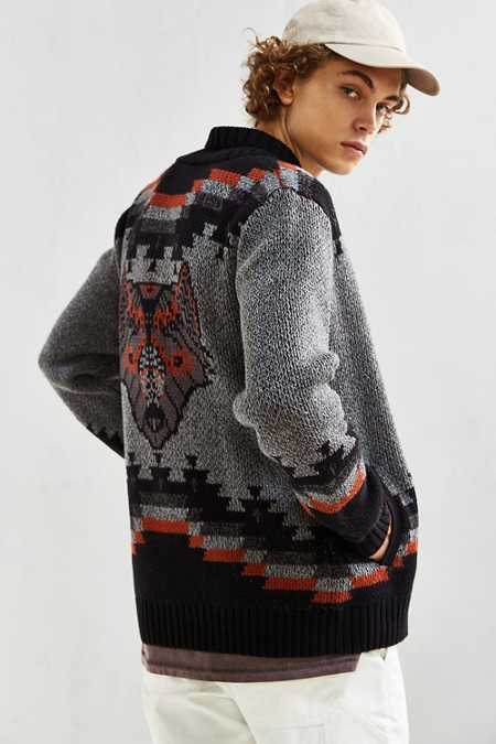 UO Patterned Shawl Cardigan