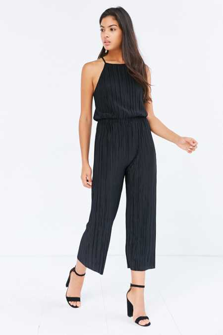 Silence + Noise Accordion Pleat Culotte Jumpsuit