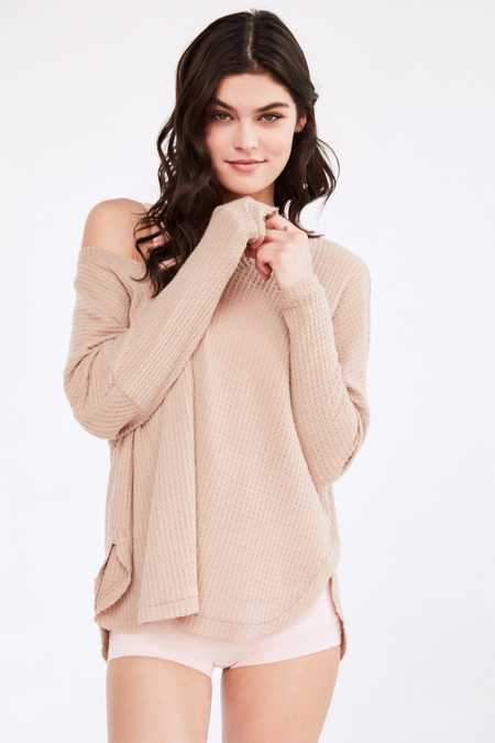 Out From Under Oversized Cozy Thermal V-Neck Top