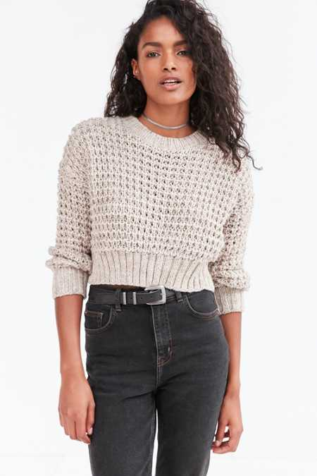 Ecote Isabella Open Stitch Crop Sweater