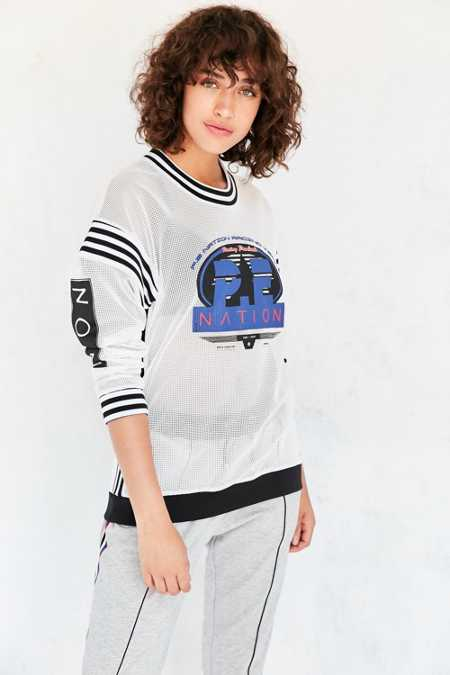 P.E Nation First Track Mesh Pullover Sweatshirt