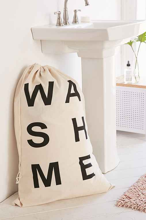 Wash Me Scramble Laundry Bag,BLACK & WHITE,ONE SIZE