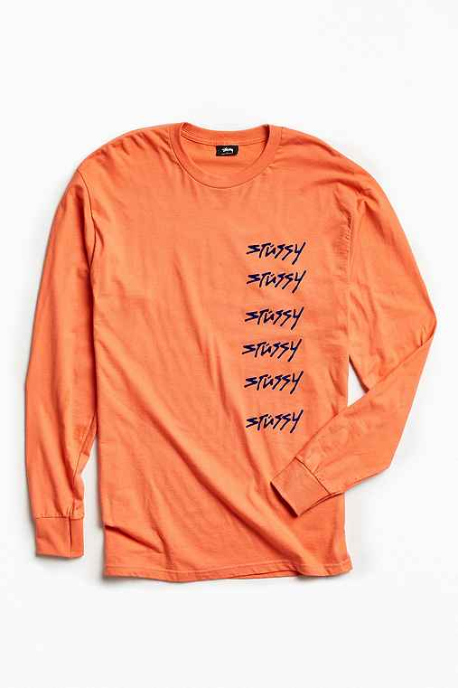 Stussy 6X Long Sleeve Tee,ROSE,M