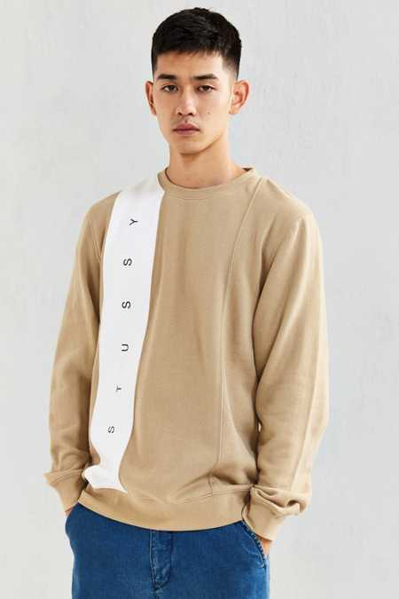 Stussy Paneled Crew Neck Sweatshirt