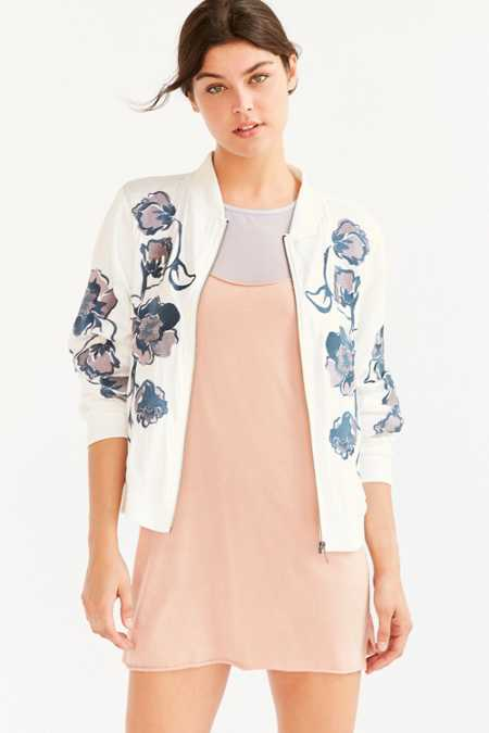 Kimchi Blue Molly Embroidered Bomber Jacket
