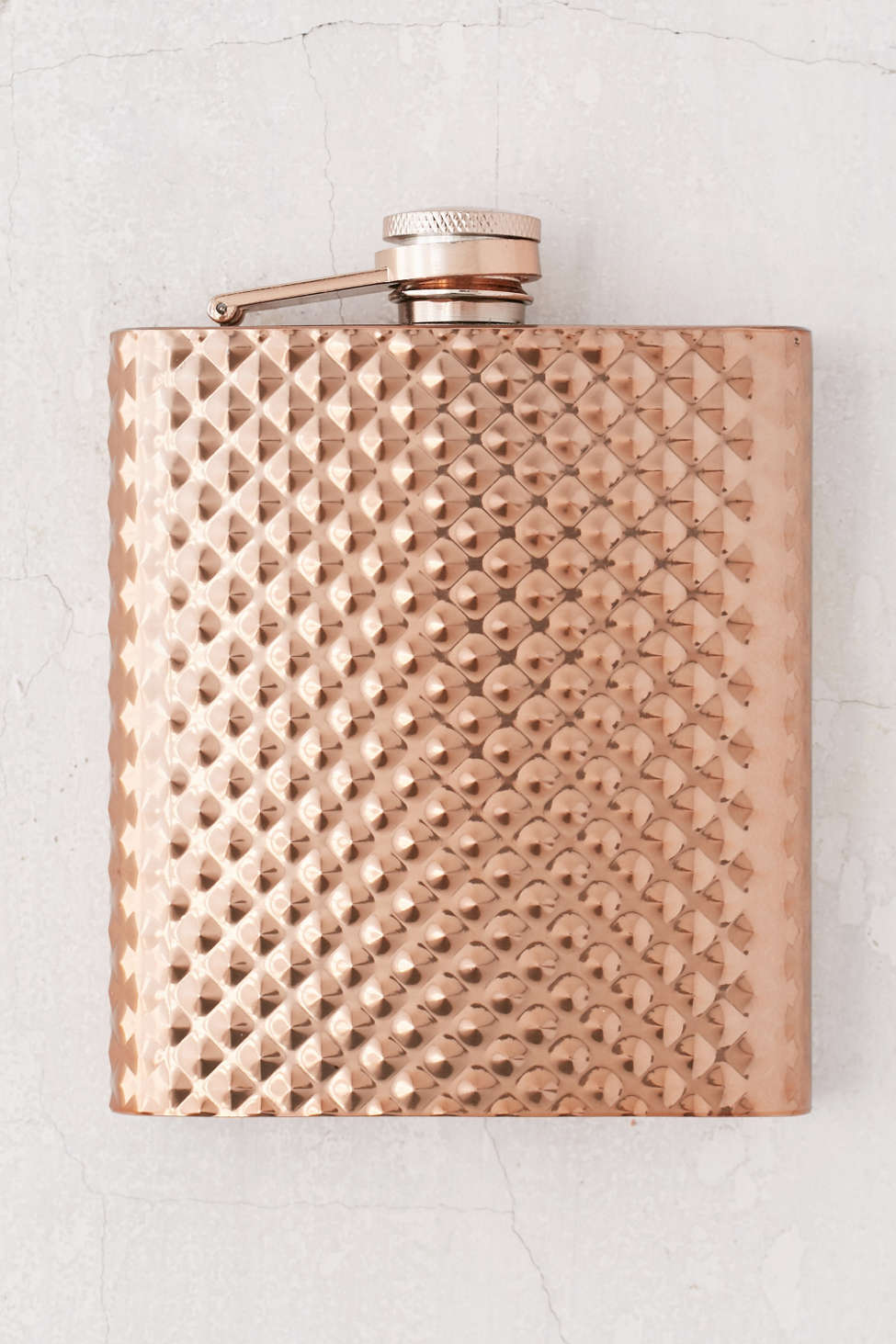copper faceted flask