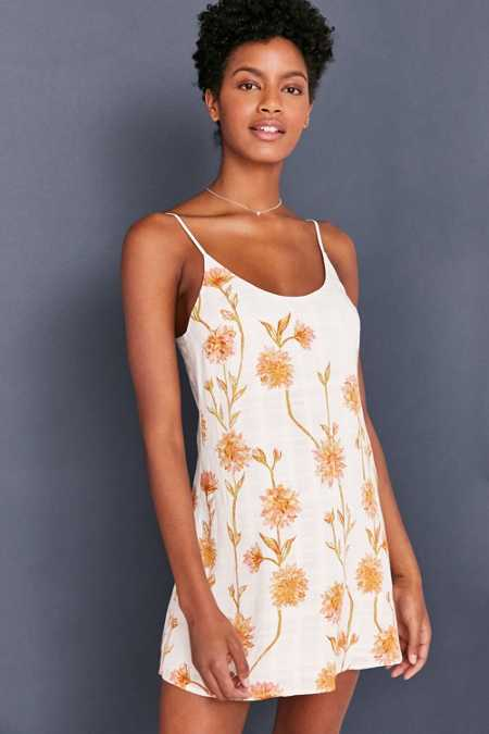 Kimchi Blue Cambridge Floral Dobby Slip Dress