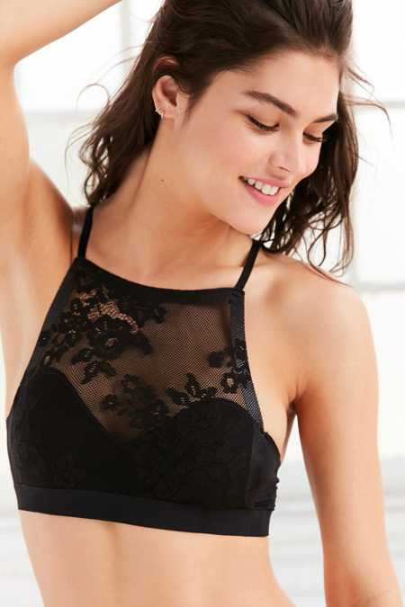 Out From Under Fusion Lace High Neck Bra