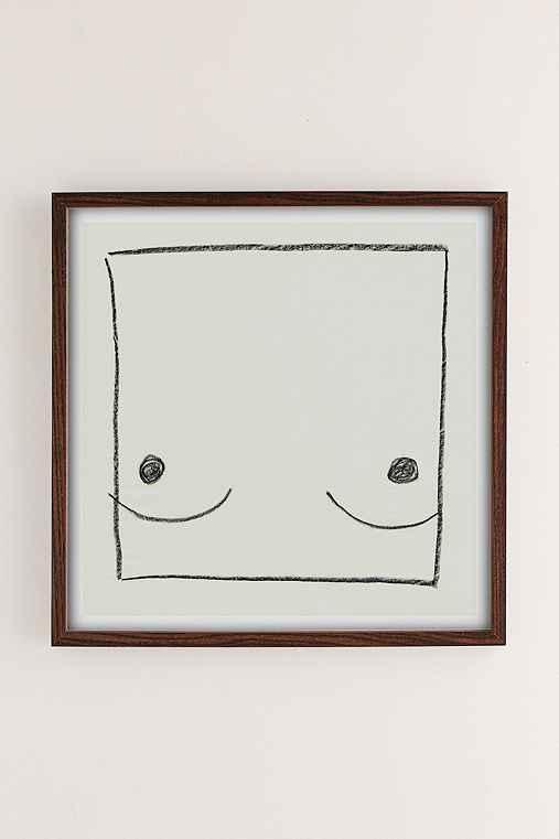 Anna Gleeson Body Art Print,WALNUT WOOD FRAME,30X30