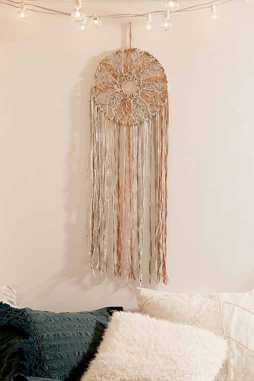 Macrame Braid Dream Catcher,GREY,ONE SIZE
