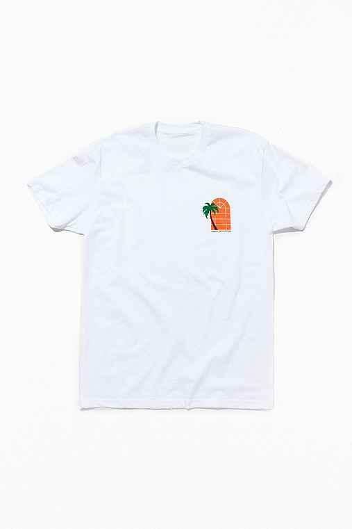 UO Souvenir Miami Oranges Tee,WHITE,L