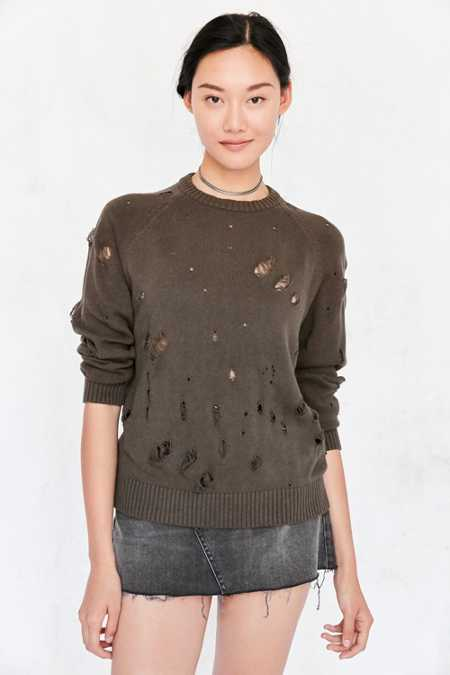Publish Distressed Pullover Sweater