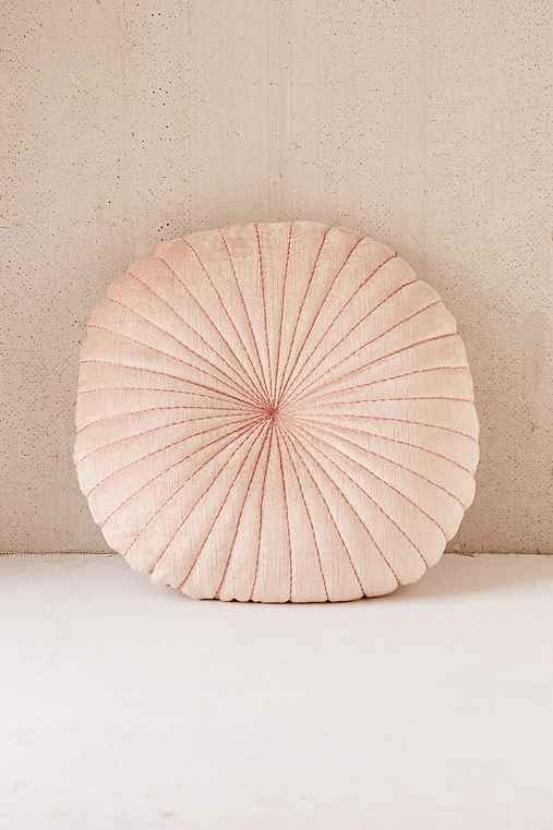 Shelly Round Pillow,ROSE,ONE SIZE