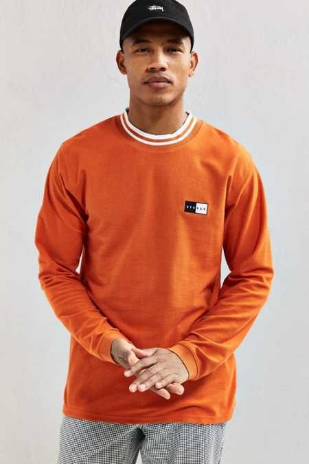 Stussy Reverse Terry Ringer Long Sleeve Tee