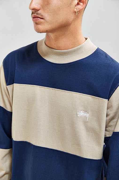 Stussy Bold Stripe Jersey,TAUPE,XL