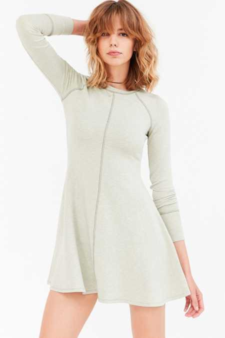 BDG Outfield Long-Sleeve Sweatshirt Mini Dress