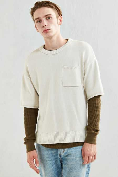 UO Cotton Crew Neck Short Sleeve Sweater