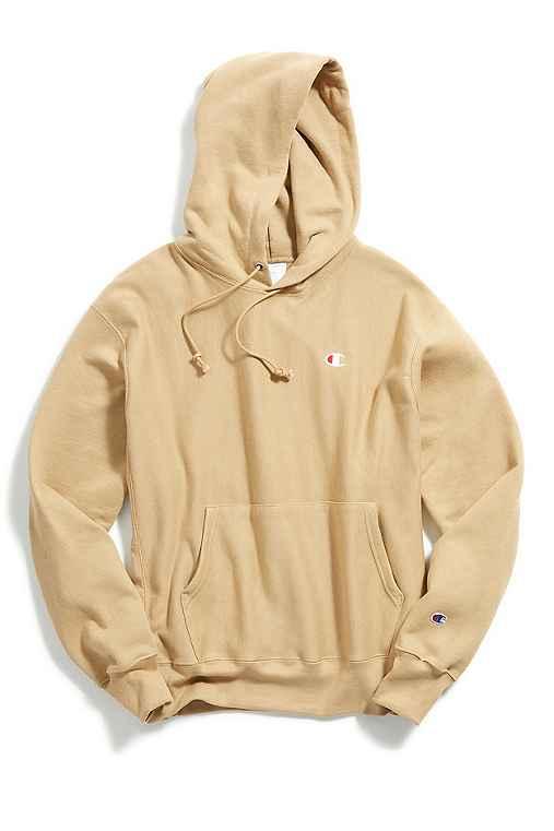 Champion Reverse Weave Hoodie Sweatshirt,TAUPE,L