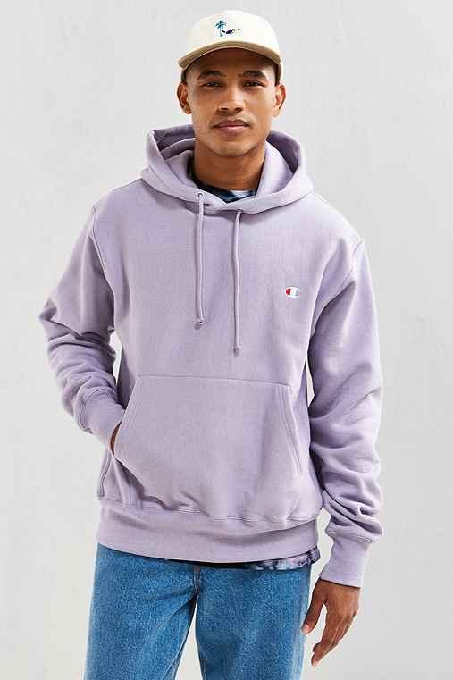 Champion Reverse Weave Hoodie Sweatshirt,LAVENDER,XL