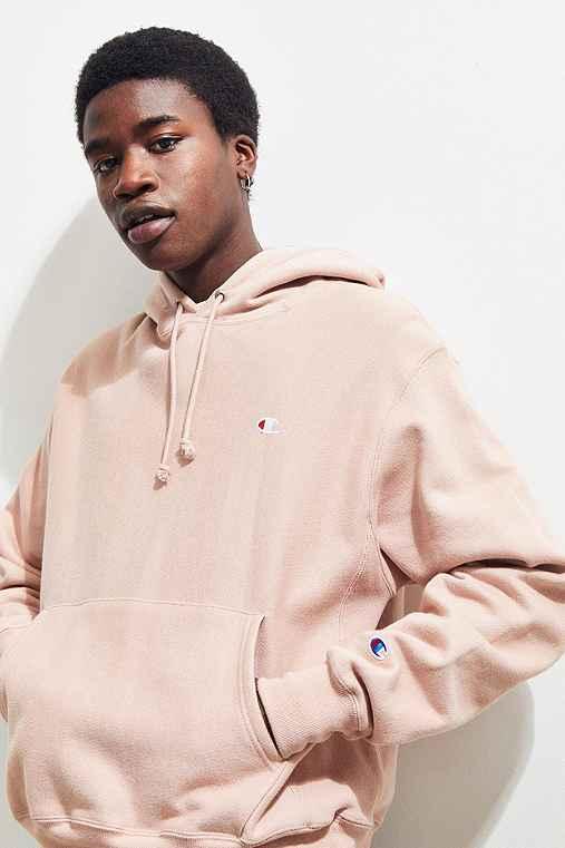 Champion Reverse Weave Hoodie Sweatshirt,ROSE,S