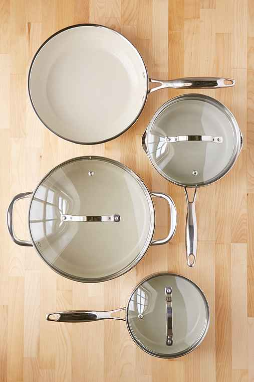 7-Piece Gleaming Cookware Set,SILVER,ONE SIZE