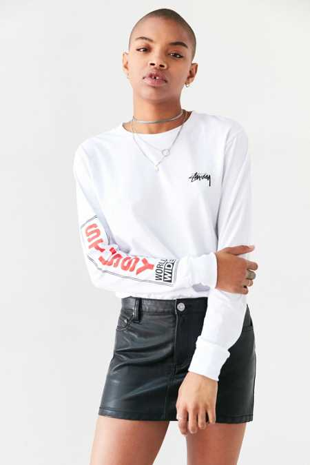Stussy World-Wide Long-Sleeve Tee