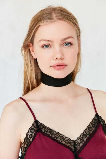 Spencer Vegan Suede Choker Necklace