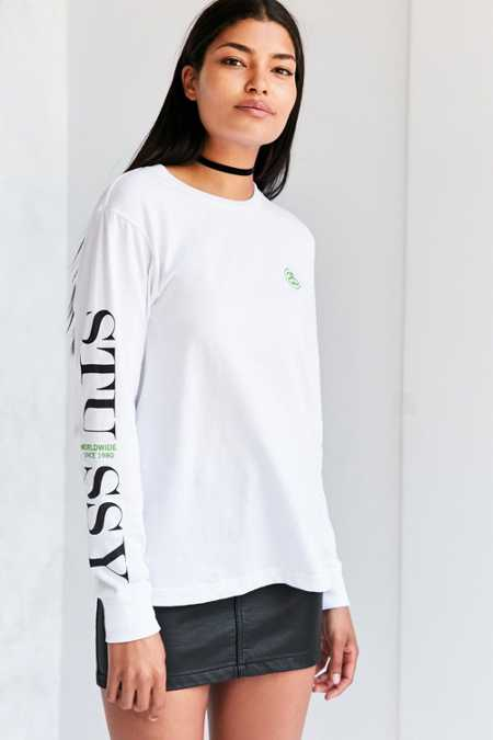 Stussy Standard Long-Sleeve Crew-Neck Tee